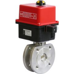Two Way Wafer Ball Valve with Valpes Actuator - Zoedale Ltd - Supplier of Valves, Actuators and Flow Control Equipment