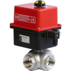 Three Way Steel Ball Valve with Valpes Actuator - Zoedale Ltd - Supplier of Valves, Actuators and Flow Control Equipment