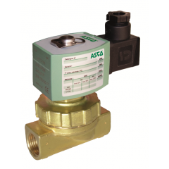 ASCO Solenoid Valve 220 - 2 Way - Brass - Pilot Operated - Hot Water - Steam - zoedale ltd