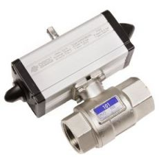 Omal Double Acting Pneumatic Actuator and 2 Way High Pressure Brass Ball Valve - Zoedale Ltd - Supplier of Valves, Actuators and Flow Control Equipment