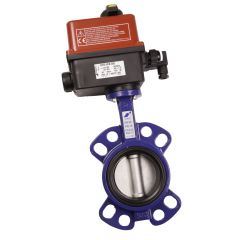 Cast Iron Butterfly Valve with Valpes Actuator - Zoedale Ltd - Supplier of Valves, Actuators and Flow Control Equipment