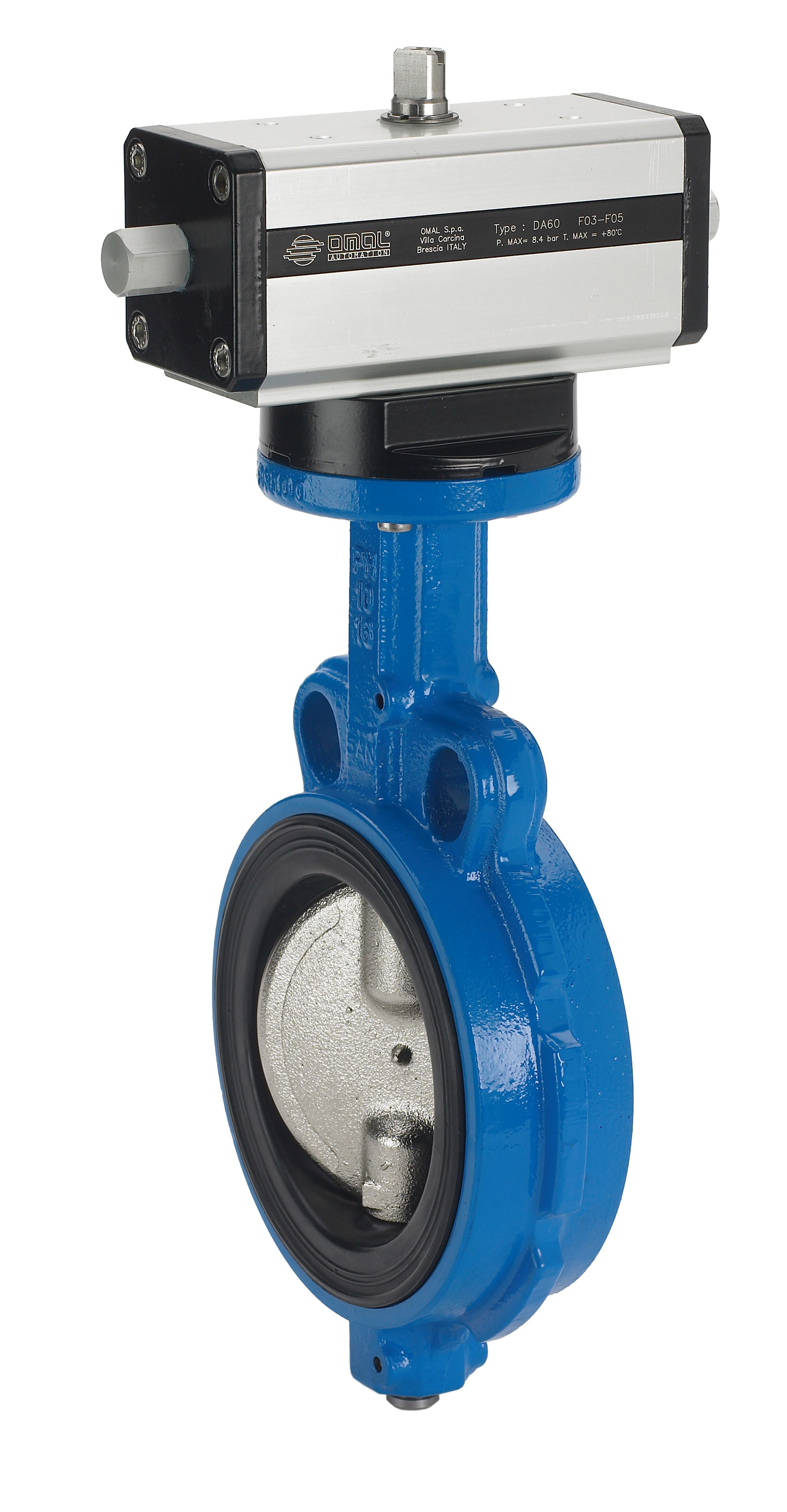 Buy Wafer Butterfly Valve and Double Acting Pneumatic Actuator at