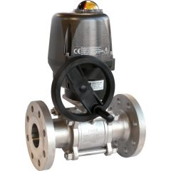 Stainless Steel Flanged Ball Valve & Valpes Actuator - Zoedale Ltd - Supplier of Valves, Actuators and Flow Control Equipment