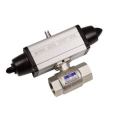 Omal Spring Return Failsafe Actuator and 2 Way High Pressure Brass Ball Valve