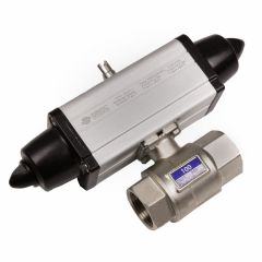 Omal Spring Return actuated 2 way low pressure brass ball valve  - Zoedale Ltd - Supplier of Valves, Actuators and Flow Control Equipment